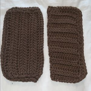 2 Warm Brown Color All Purpose 100% Cotton Cloths